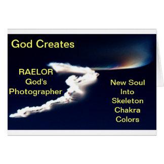 God Creates New Soul Card