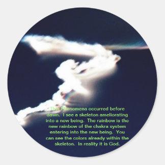 God Creates New Soul Classic Round Sticker