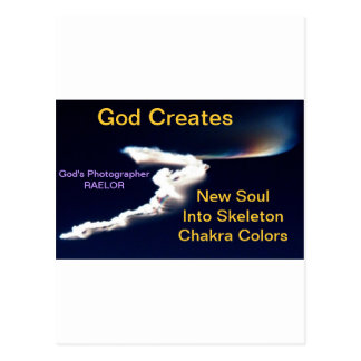 God Creates New Soul Postcard