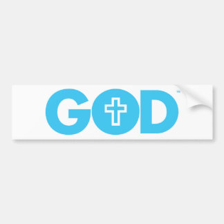 God Cross Car Bumper Sticker