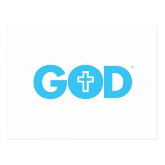 God Cross Postcard