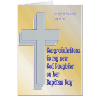God Daughter Baptism Card