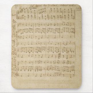 God Defend New Zealand Original Manuscript 1876 Mouse Pad