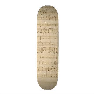 God Defend New Zealand Original Manuscript 1876 Skateboard