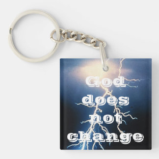 God Does Not Change Single-Sided Square Acrylic Keychain