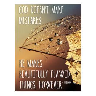 God Doesn't Make Mistakes Postcard