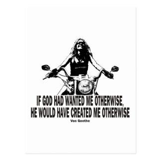God Don't Hate Women Bikers Postcard