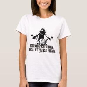 God Don't Hate Women Bikers T-Shirt