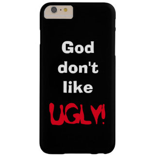 """""""God don't like UGLY!"""" Black Device Cover"""
