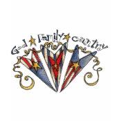 God Family Country America shirt