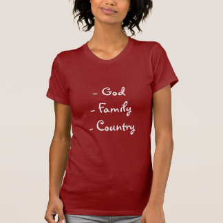 God Family Country Ladies Jersey T-Shirt