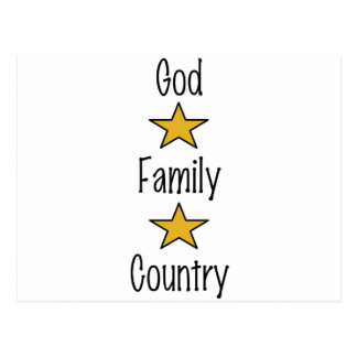 God Family Country Postcard