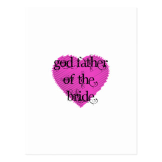 God Father of the Bride Postcard