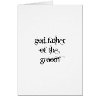 God Father of the Groom Card