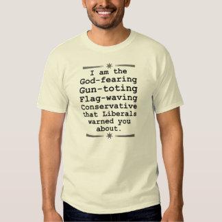 God Fearing Gun Toting Flag Waving Conservative Tshirts