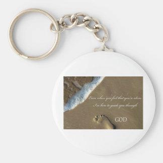GOD footprint in Sand Keychain