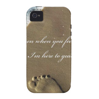 GOD footprint in Sand Vibe iPhone 4 Cases