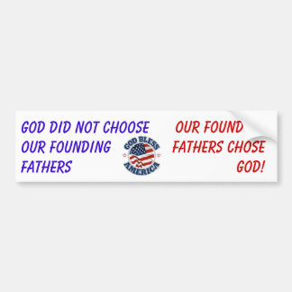 GOD-Founding Fathers Bumper Sticker