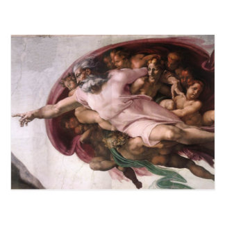 God from Creation of Adam in detail Postcard