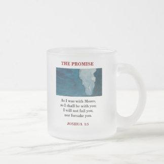 GOD FROSTED GLASS COFFEE MUG