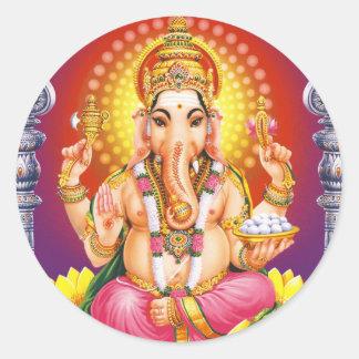 God Ganesha Classic Round Sticker