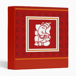 God Ganesha Design Vinyl Binder