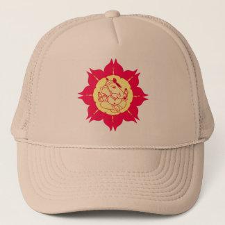God Ganesha on flower Trucker Hat