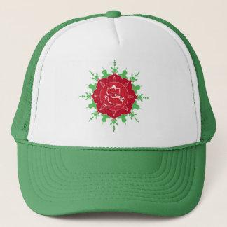God Ganesha on red flower Trucker Hat