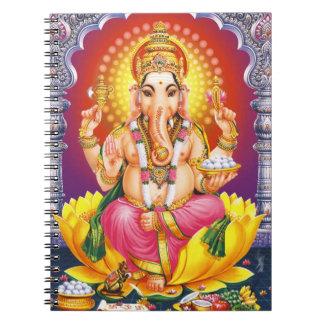 God Ganesha Spiral Notebook