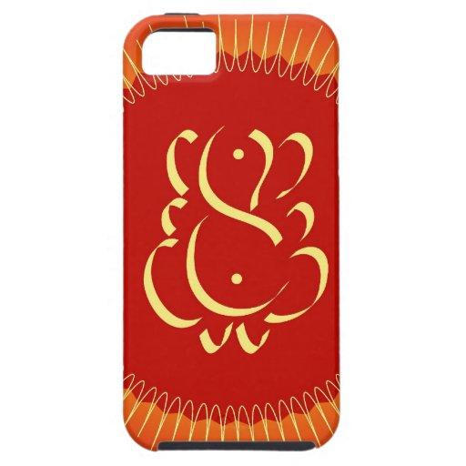 God Ganesha with sun rays iPhone 5 Cases
