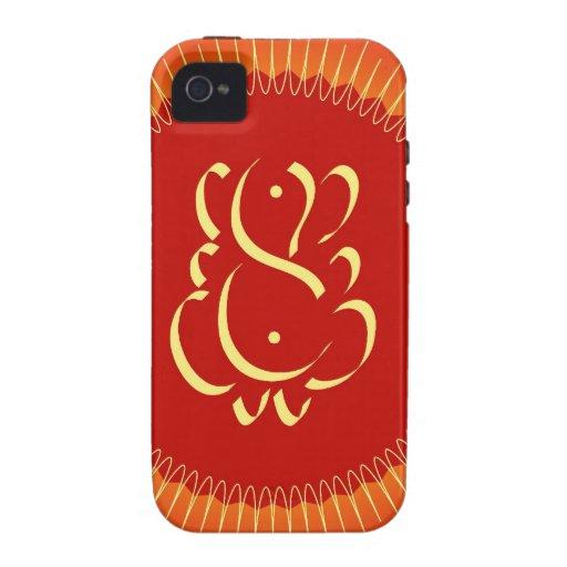 God Ganesha with sun rays iPhone 4/4S Cover