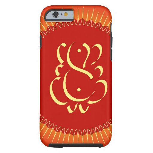 God Ganesha with sun rays iPhone 6 Case