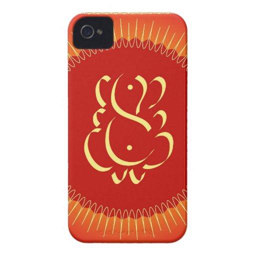 God Ganesha with sun rays iPhone 4 Cover