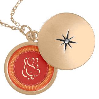 God Ganesha with sun rays Locket Necklace