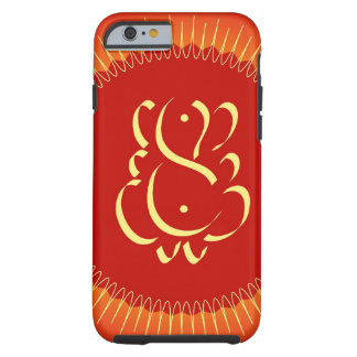 God Ganesha with sun rays Tough iPhone 6 Case