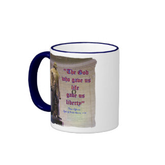 God Gave Life & Liberty Ringer Coffee Mug