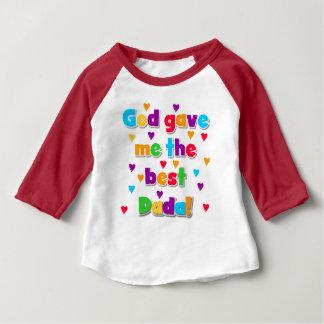 God Gave Me the Best Dada Baby Raglan T-shirt