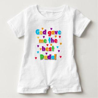 God Gave Me the Best Dada Baby Romper