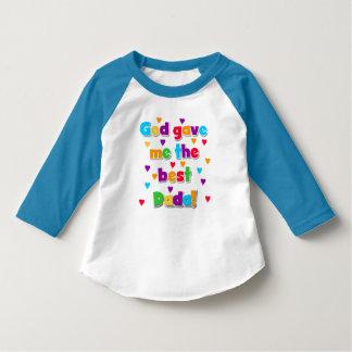 God Gave Me the Best Dada Toddler Raglan T-shirt