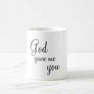 God Gave Me You Classic White Coffee Mug