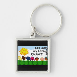 GOD GAVE US A SECOND CHANCE KEYCHAIN