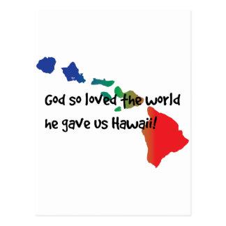 God gave us Hawaii. Postcard