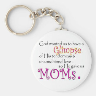 God Gave Us Moms Keychain