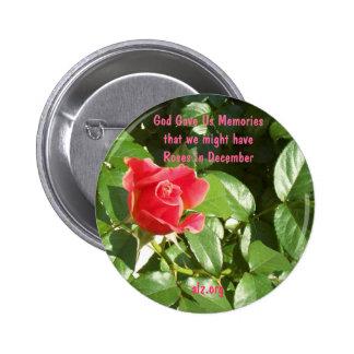 God Gave us Roses Alzheimer s Button