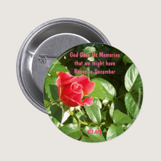 God Gave us Roses Alzheimer's Button