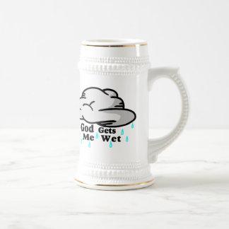 God Gets Me Wet 18 Oz Beer Stein
