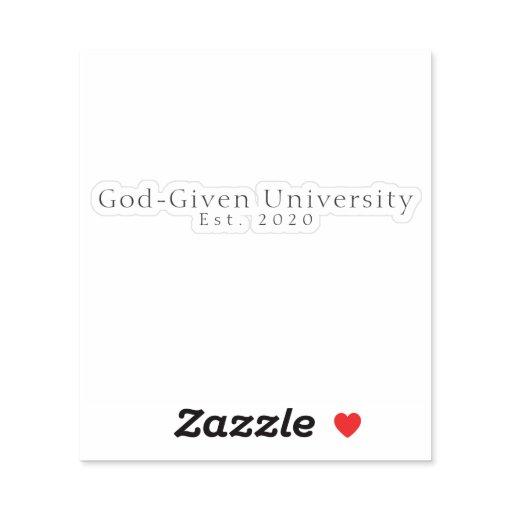 God-Given University Laptop Decal Sticker