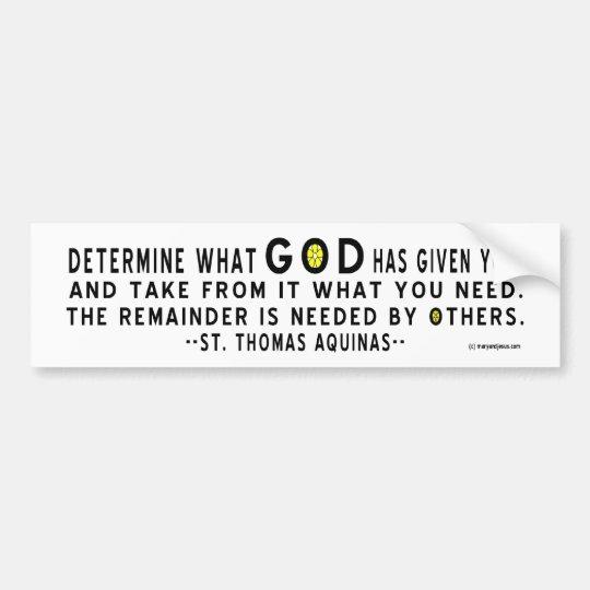 God Given You Bumper Bumper Sticker