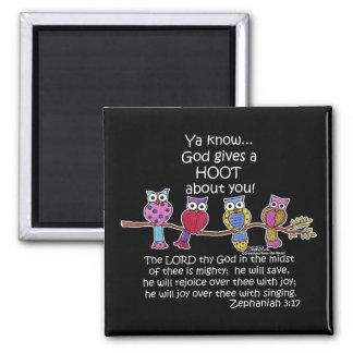 God Gives a Hoot Owls Fridge Magnets