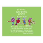 God Gives a Hoot Owls Post Cards